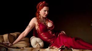 Lucretia (Lucy Lawless) dans Spartacus