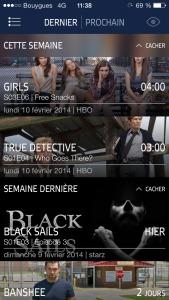 iTV Shows sur iPhone, une app de suivi de Séries qui se synchronise avec Trakt