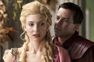 Ilithyia (Viva Bianca) et Gaius Claudius Glaber (Craig Parker)