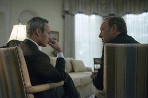 Le président (Michael Gill) et son vice-président (Kevin Spacey)