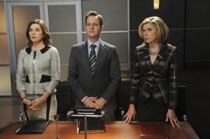 Alicia (Julianna Margulies), Will (Josh Charles) et Diane (Christine Baranski)
