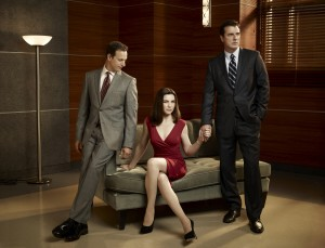 Will (Josh Charles), Alicia (Julianna Margulies) et Peter (Chris Noth)