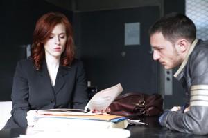 Joséphine Karlsson (Audrey Fleuriot) et un client
