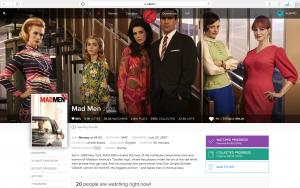 La page Mad Men sur le site Trakt.tv