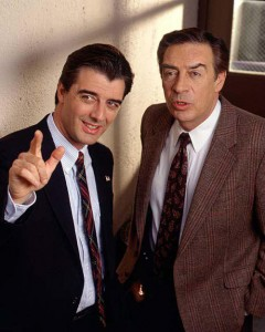 Chris Noth et Jerry Orbach à la grande époque de Law & Order / New York Police Judiciaire