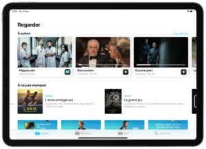 L'Application TV d'Apple sur iPad